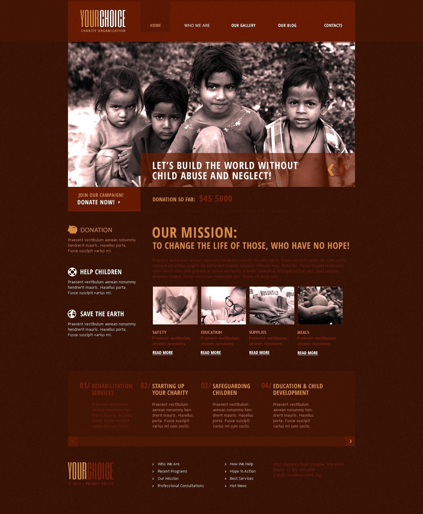 Red Charity Drupal Template - screenshot