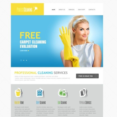 Perfect Cleaning - Responsive HTML5 Drupal Template