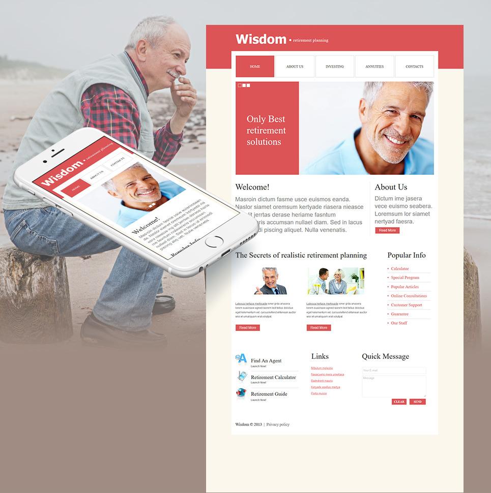 Retirement Planning Moto CMS HTML Template New Screenshots BIG