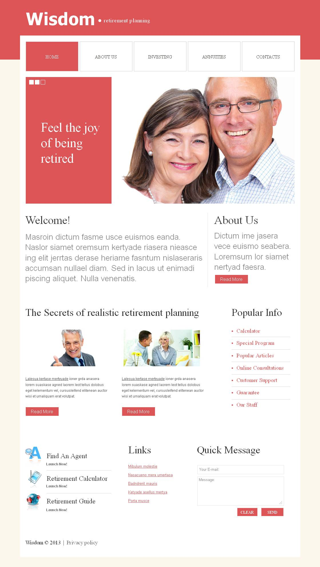 Retirement Planning Moto CMS HTML Template