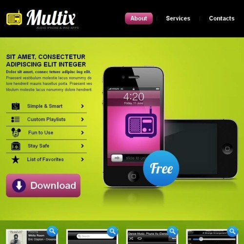 Multix - Facebook HTML CMS Template