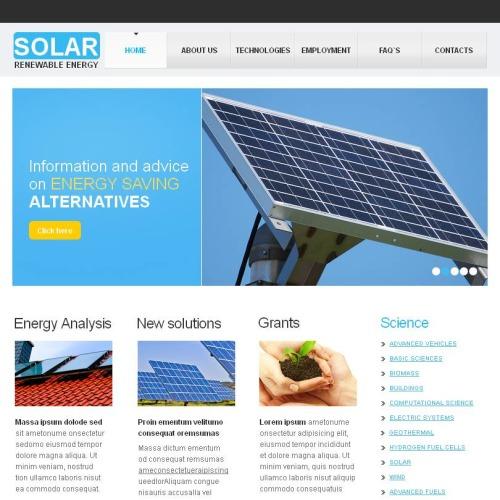 Solar Renewable Energy - Facebook HTML CMS Template