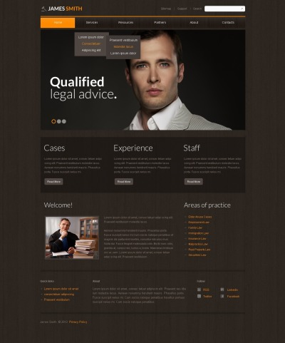 Lawyer Responsive Template Siti Web