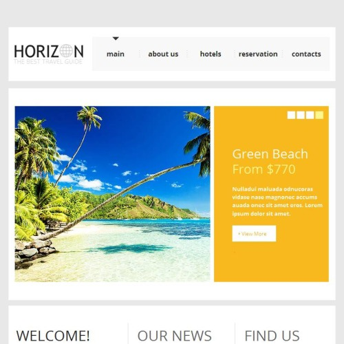 Horizon - Facebook HTML CMS Template