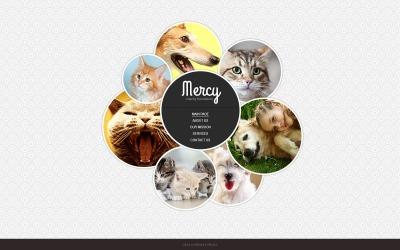 Website Vorlage für Tierheim