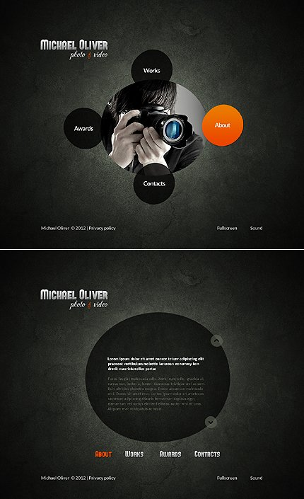 ADOBE Photoshop Template 43604 Home Page Screenshot