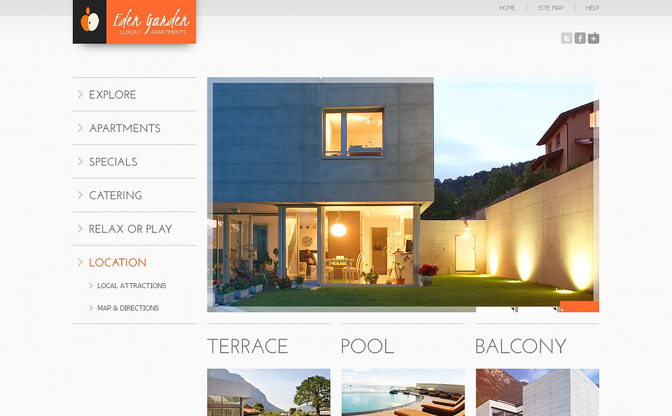 Flash CMS Vorlage für Immobilien  New Screenshots BIG