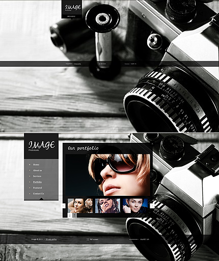 ADOBE Photoshop Template 43608 Home Page Screenshot