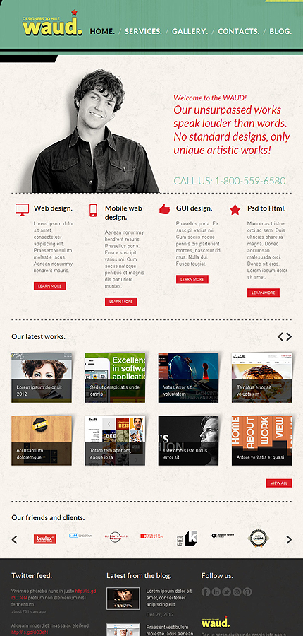 Joomla Theme/Template 43615 Main Page Screenshot