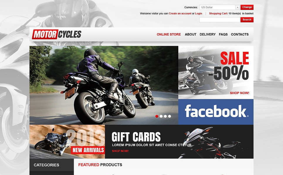 Thème VirtueMart  pour magasin de moto  New Screenshots BIG