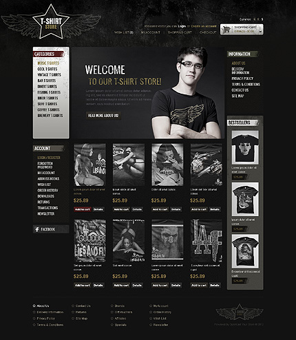 ADOBE Photoshop Template 43628 Home Page Screenshot