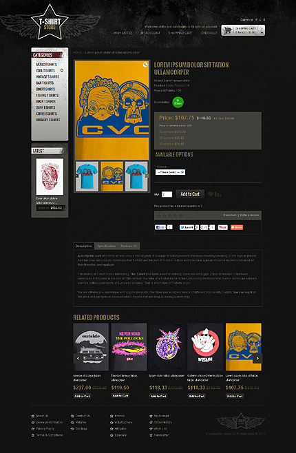 ADOBE Photoshop Template 43628 Home Page Screenshot