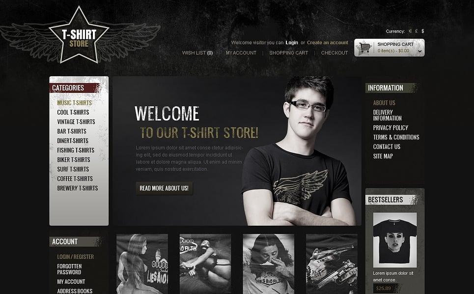 OpenCart šablona Prodejna triček New Screenshots BIG