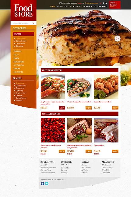 ADOBE Photoshop Template 43629 Home Page Screenshot