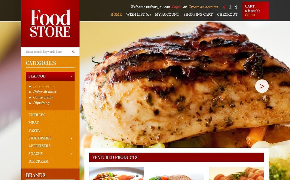 Szablon OpenCart #43629 na temat: sklep z żywnością New Screenshots BIG