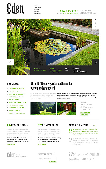 Exterior design website template website templates for Exterior design website templates