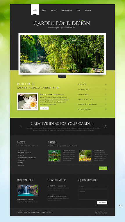 Exterior design website template 43644 for Exterior design website templates