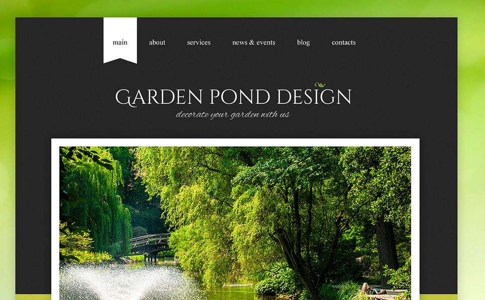 Responsive Website template over Tuinontwerp  New Screenshots BIG