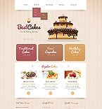 Food & Drink Website  Template 43645