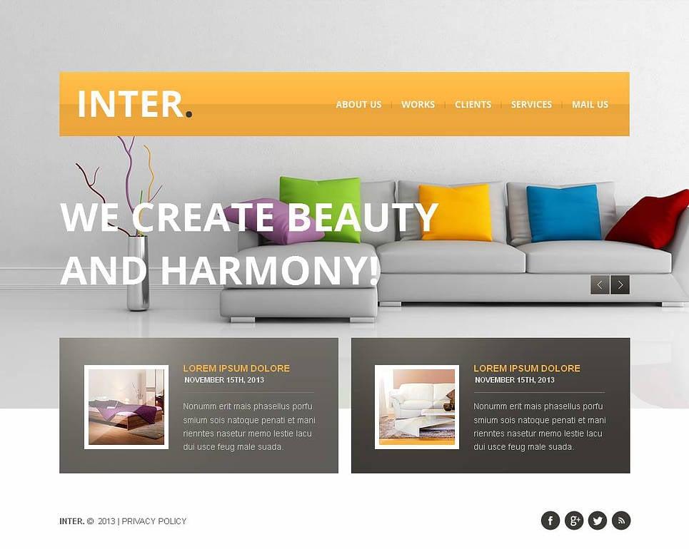 Compact Website Template for Interior Design Studios - image