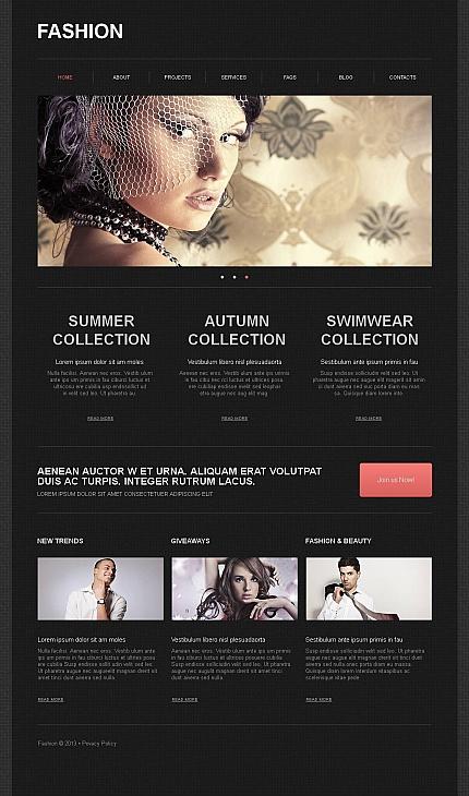 ADOBE Photoshop Template 43650 Home Page Screenshot