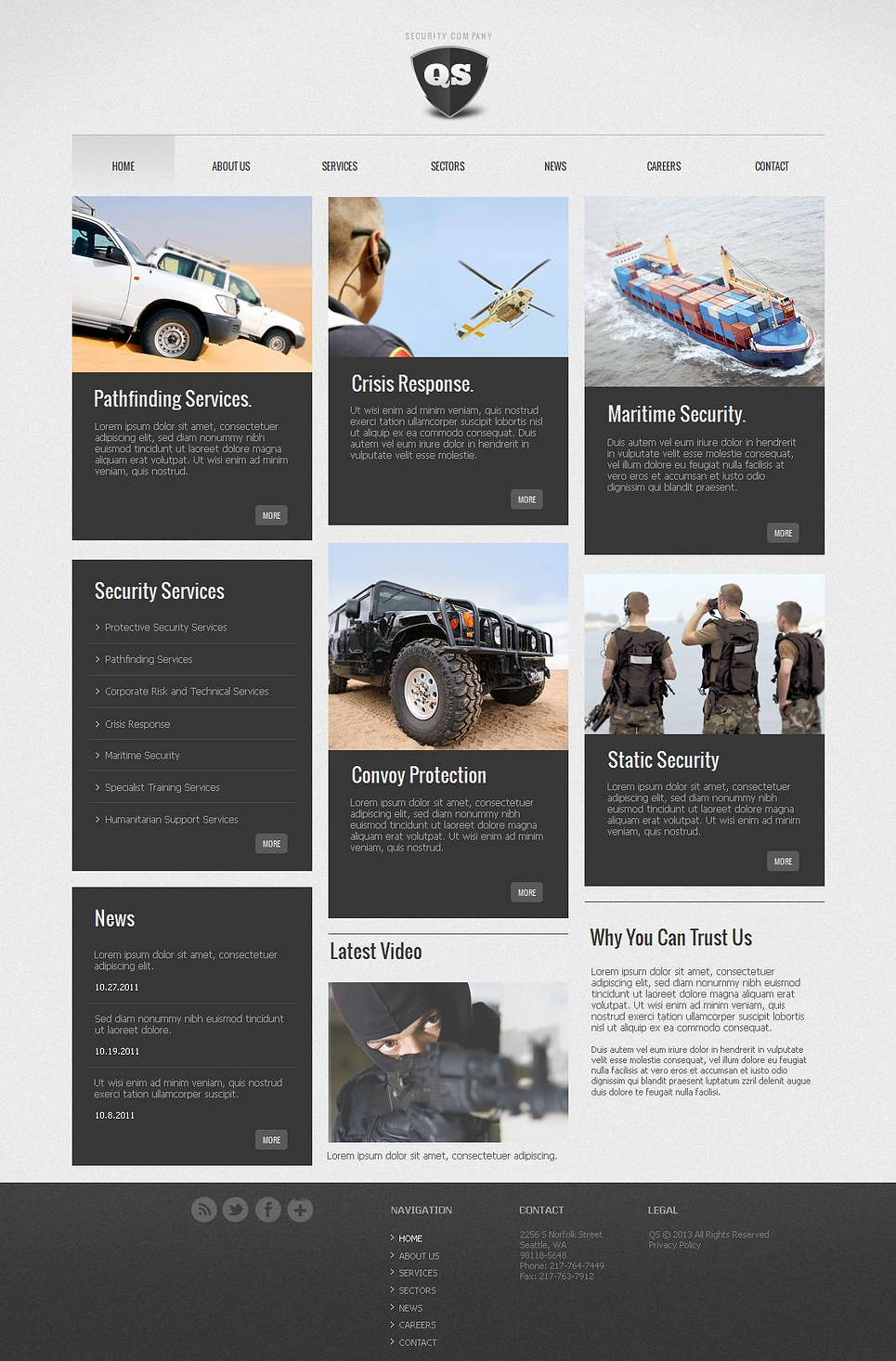 Security Company Website Template with CMS - image
