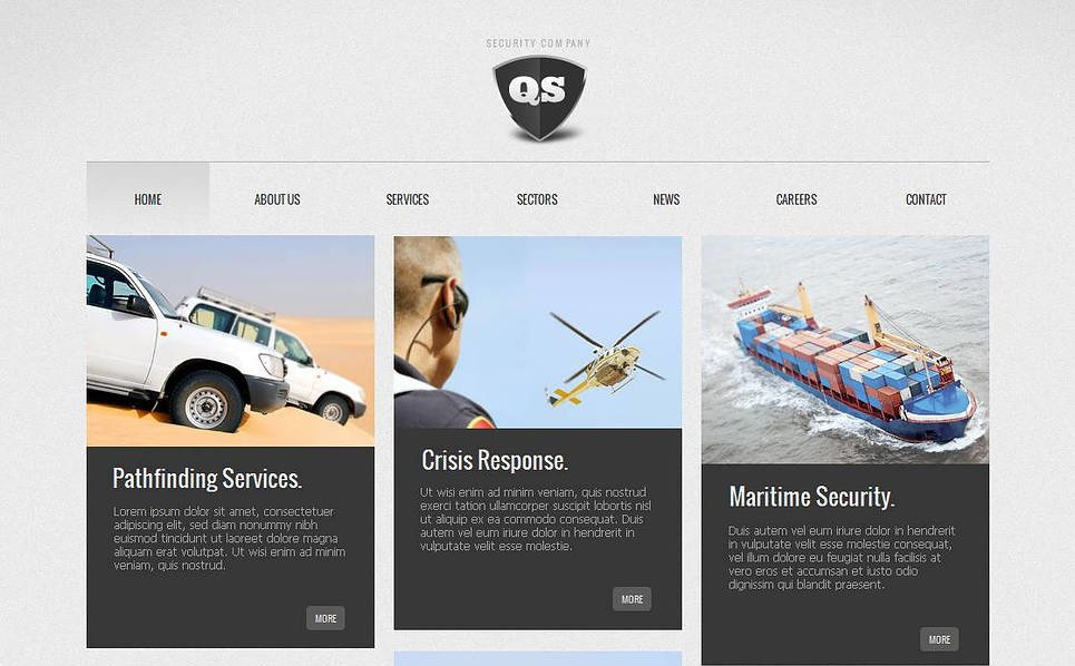 MotoCMS HTML шаблон на тему безпека New Screenshots BIG