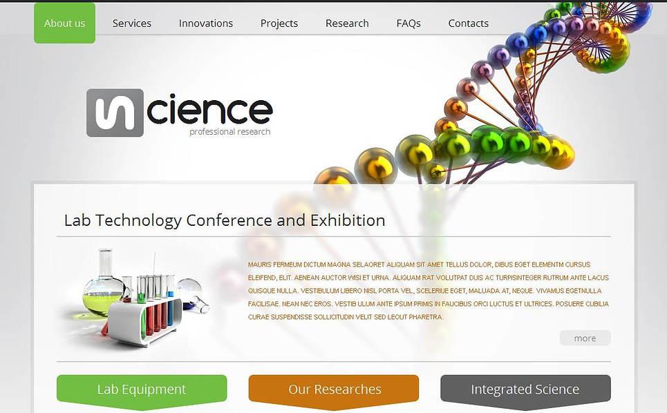MotoCMS HTML шаблон №43657 на тему научная лаборатория New Screenshots BIG