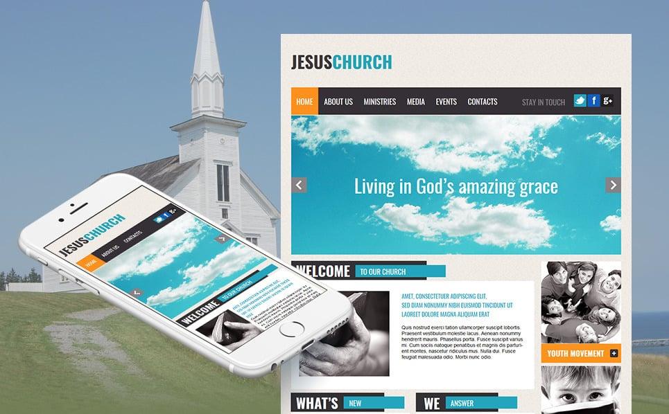 Szablon Moto CMS HTML #43659 na temat: chrześcijaństwo New Screenshots BIG
