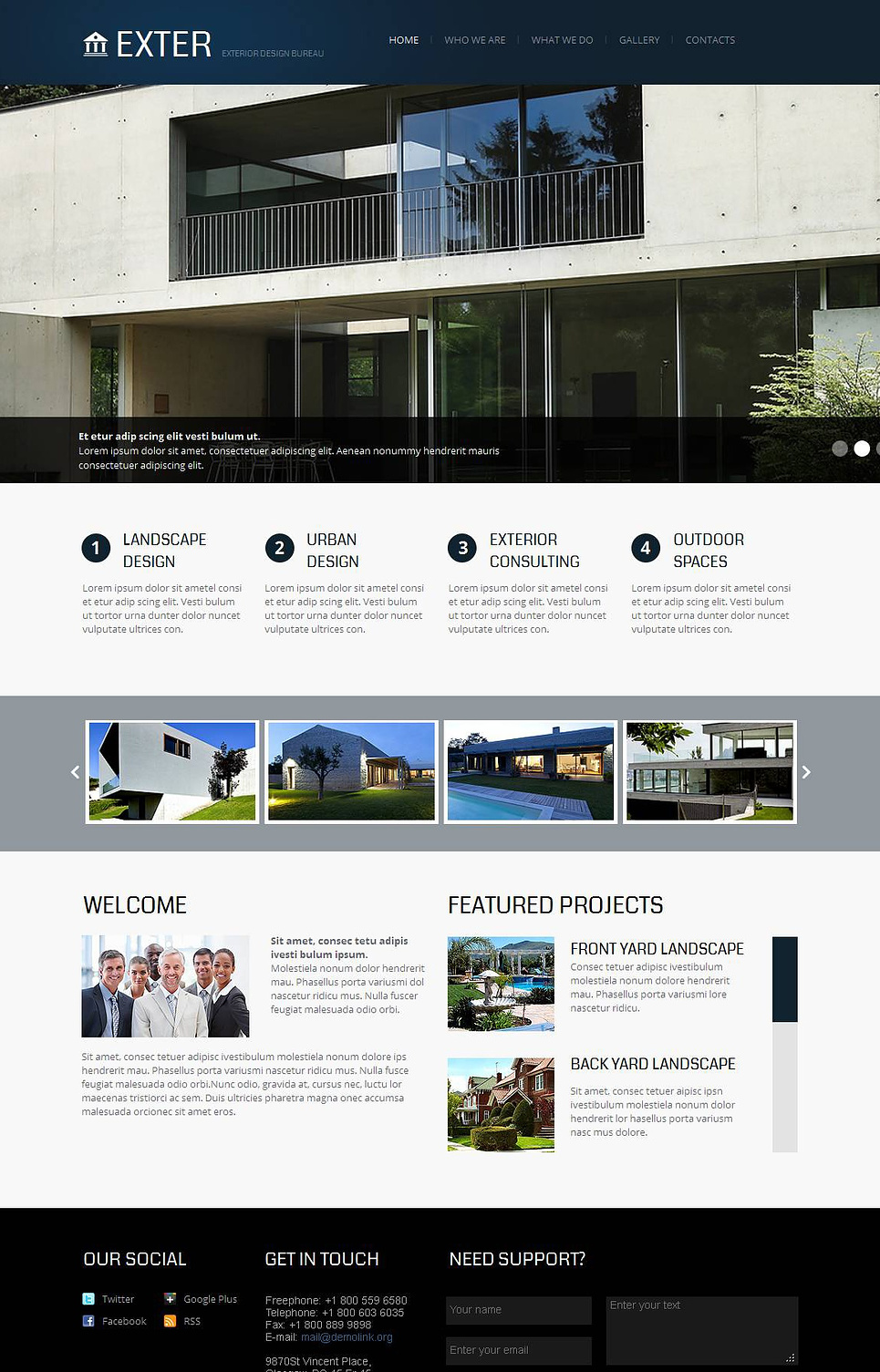 Exterior Design Template with jQuery Slider - image