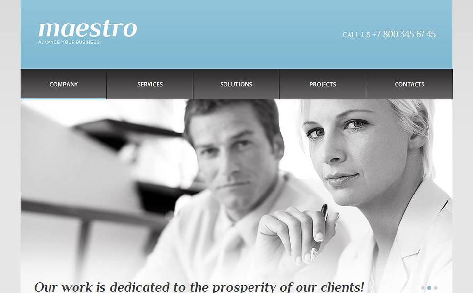 Modèle Moto CMS HTML  pour une agence de marketing New Screenshots BIG