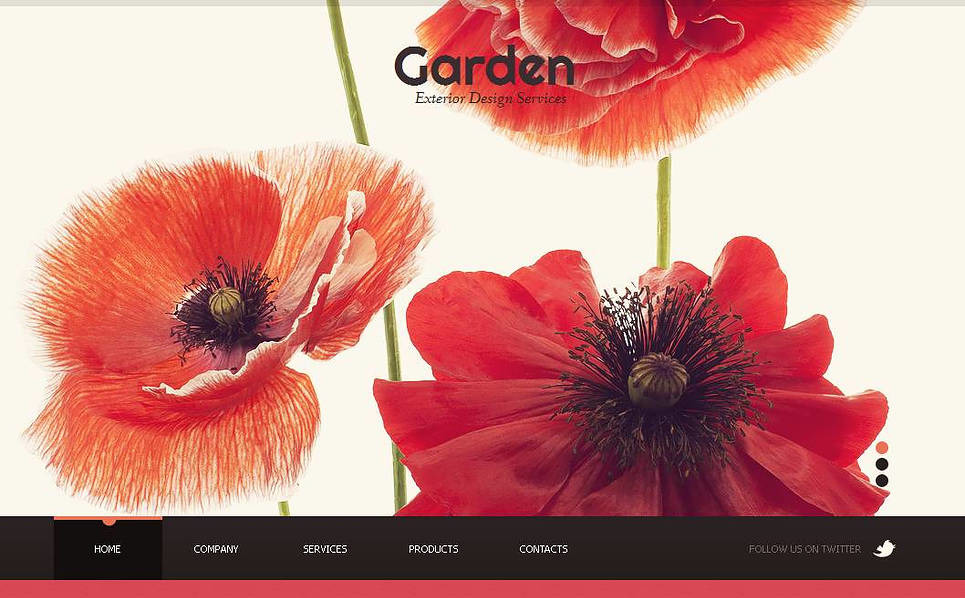 Moto CMS HTML Vorlage für Gartendesign  New Screenshots BIG