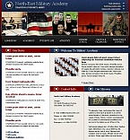 Military Facebook HTML CMS  Template 43680