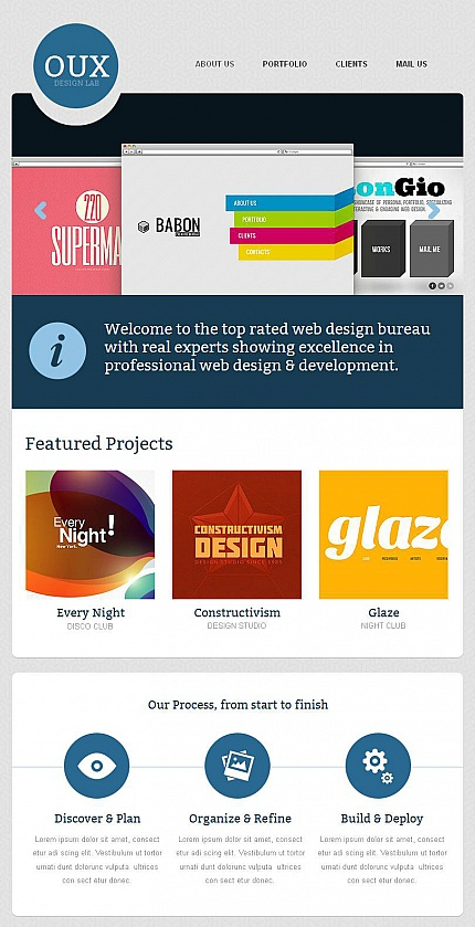 ADOBE Photoshop Template 43681 Home Page Screenshot