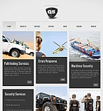 Security Facebook HTML CMS  Template 43685