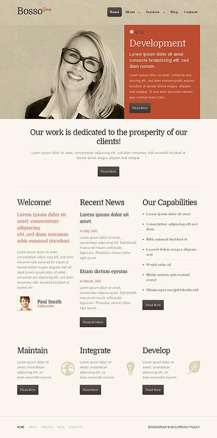 WordPress Theme/Template 43689 Main Page Screenshot