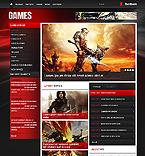 Games Website  Template 43691