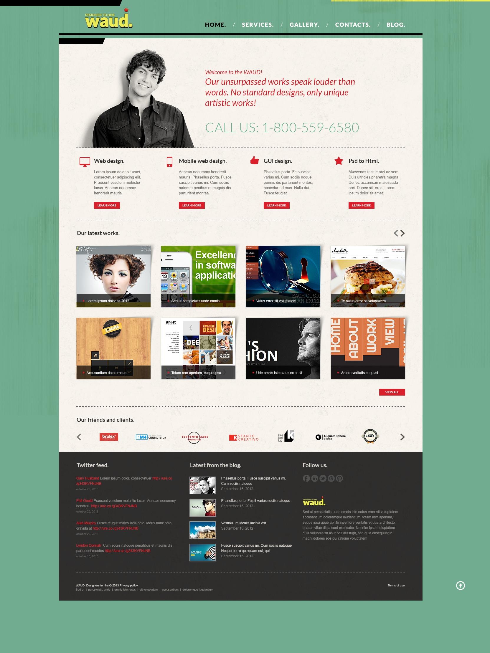 Bootstrap Design Studio Joomla Template 43615