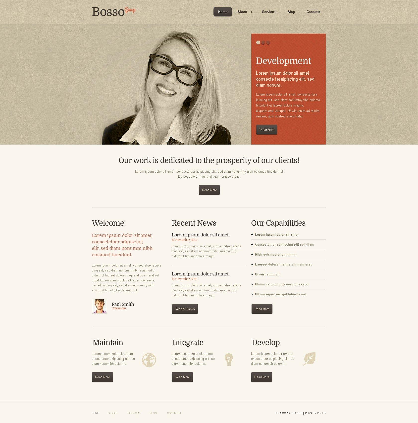 Cherry Business WordPress Theme