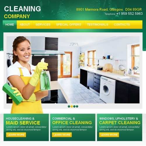 Cleaning Company - Facebook HTML CMS Template