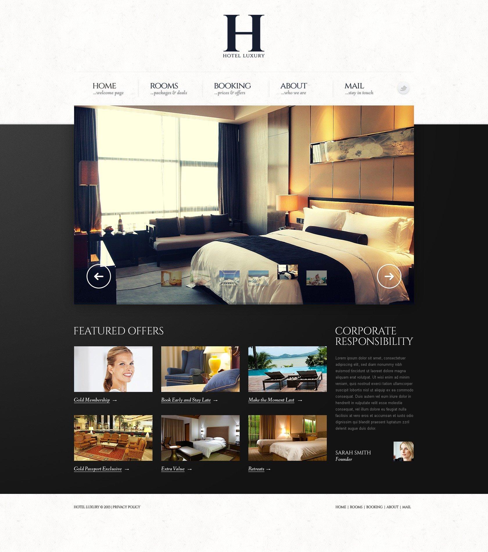 Hotels Website Template 43601