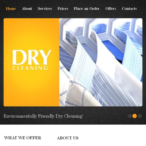 Dry Cleaning - Facebook HTML CMS Template