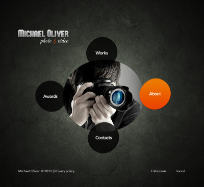 Photographer Portfolio Flash CMS šablona
