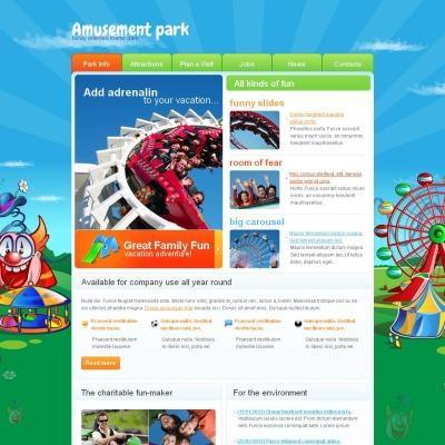 Modèle Moto CMS HTML  pour site de parc d'attractions