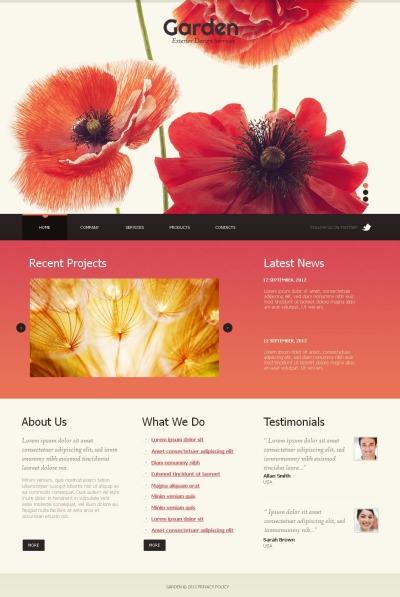 Garden Design MotoCMS HTML шаблон
