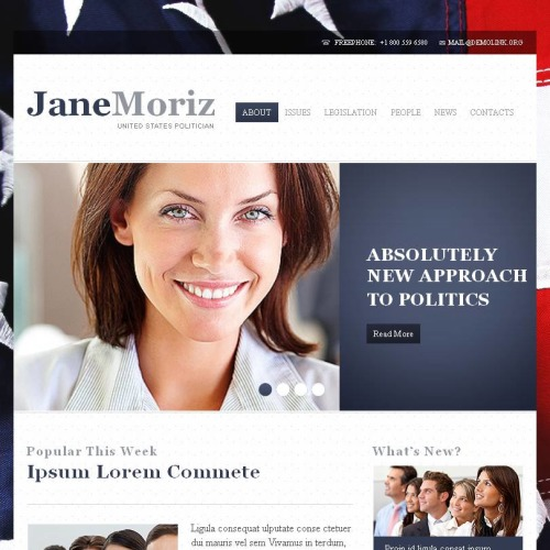 Jane Moriz - Facebook HTML CMS Template