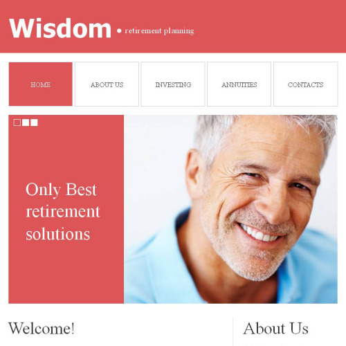 Wisdom Retirement Planning - Facebook HTML CMS Template