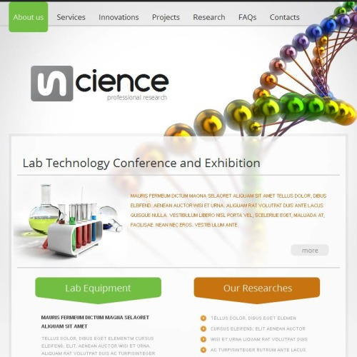 Science - Facebook HTML CMS Template