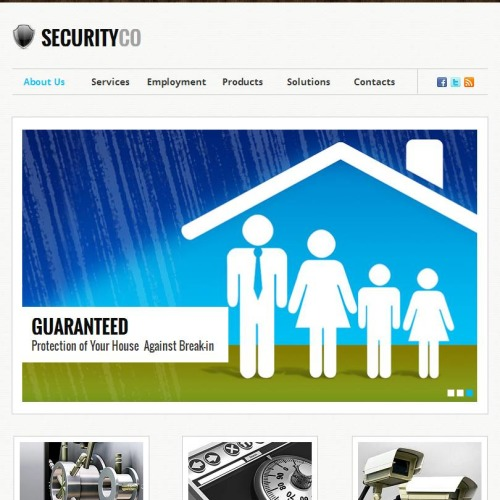 Security co - Facebook HTML CMS Template