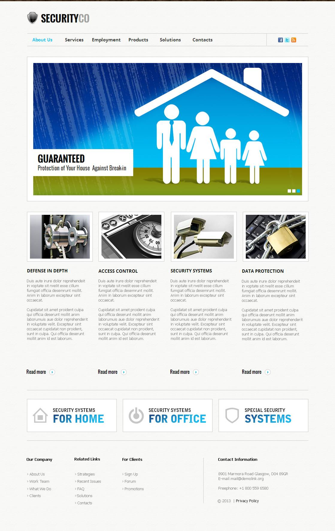 Security Moto CMS HTML Template